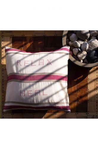 Relax Heal - Off White Cushion Cover