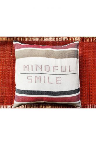Mindful Smile - Off White Cushion Cover