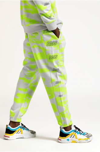 ABG Nimbus Cloud-Neon Green BEING MY SELF All Over Printed Jogger