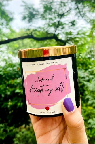 The Affirmation Candles - I love and accept my self