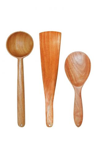 Wooden Ladle Kitchen Combo Cooking & Serving Spatula