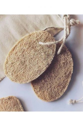Handmade Loofah With Rope For Hanging Pack Of 3