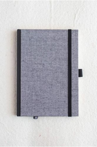 Bookcloth Notebooks Series - Ash | Unruled - A5 & B5 SIZE