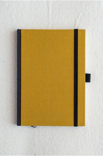 Bookcloth Notebooks Series - Mustard | Unruled- A5 & B5 SIZE