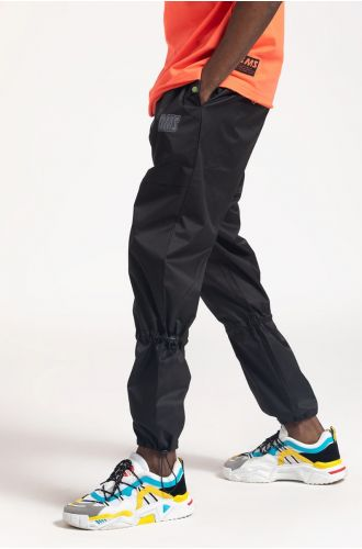 ABG Jet Black Contrast Stitched BEING MY SELF Jogger