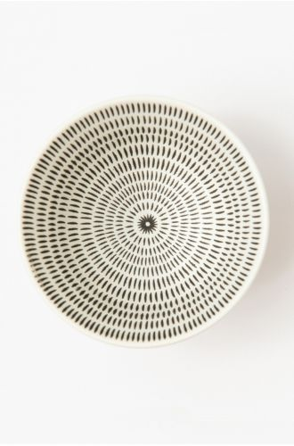 Table Manners Black Dot Small Bowl