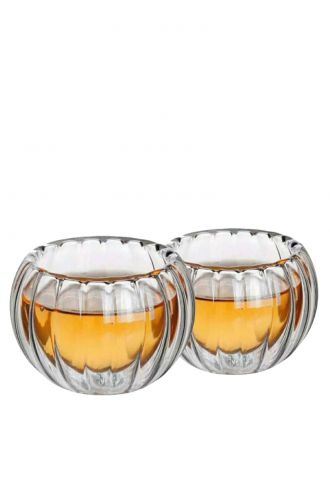 Table Manners Double Wall Glass Cup