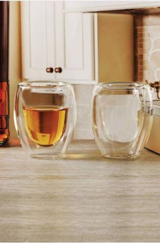 Table Manners Double Wall Glass Tumbler