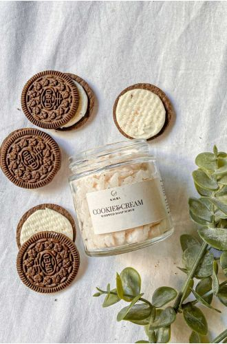 Cookie and Cream Whipped Soap