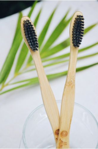 Bamboo Toothbrush - Charcoal Pack Of 2