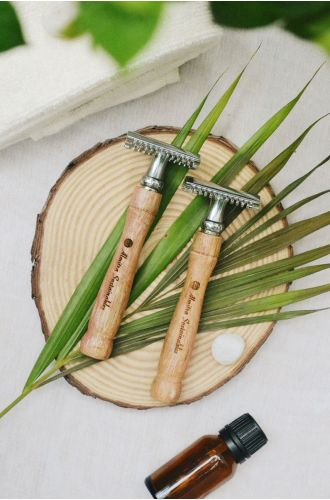 Reusable Bamboo Safety Razor Double Edged- Pack Of 2