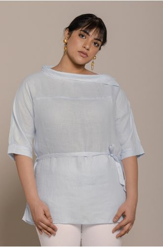 Let�S Stay Home Top In Summer Blue
