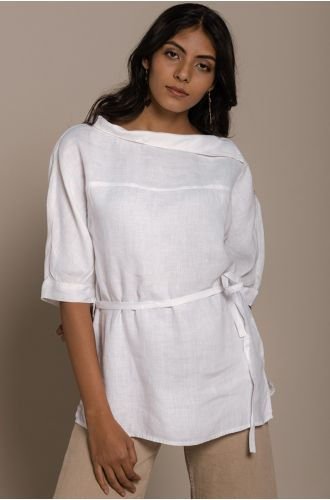 Let�S Stay Home Top In Coconut White