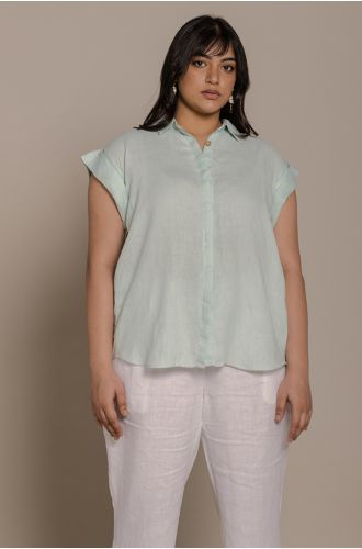 Chasing Daydreams Shirt In Sage Mint