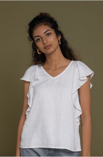 In The Summer Mood Top In Coconut White
