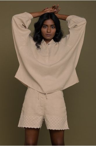 The Afternoon Thunderstorm Shirt In Sand Beige