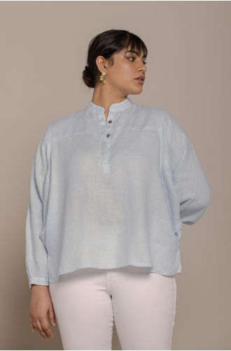 The Afternoon Thunderstorm Shirt In Summer Blue