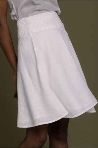 The Summer Camp Skirt In Coconut White