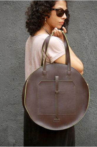 Fizza Brown Full Moon Totes