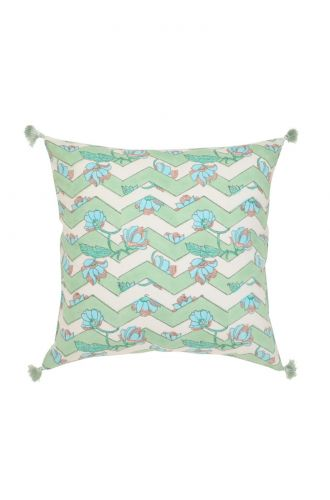 White and Green Base Cushion Cover
