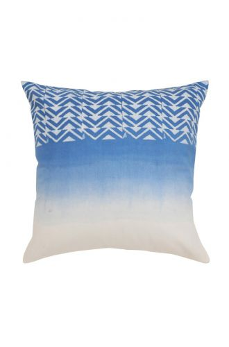 White and Sky Blue Design Cushion Cover
