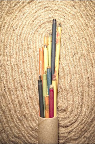 12 Plantable Pencils -100% Recycled Paper
