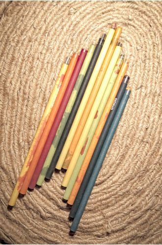 Plantable Edible Colour Pencils - 100% Recycled Paper