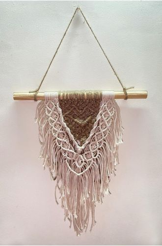 Off White & Brown Wall Hanging
