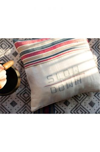 Slow Down - Off White Cushion Cover