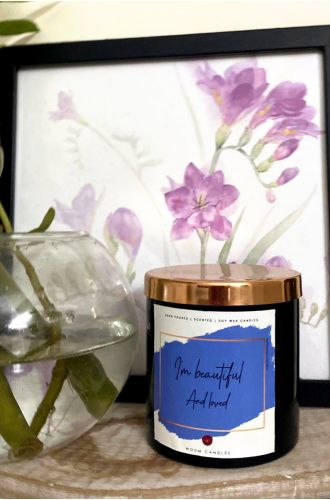 The Affirmation Candles - I am beautiful and loved