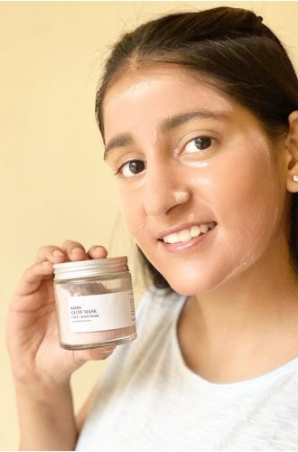 Glow Mask - French pink clay and Peppermint