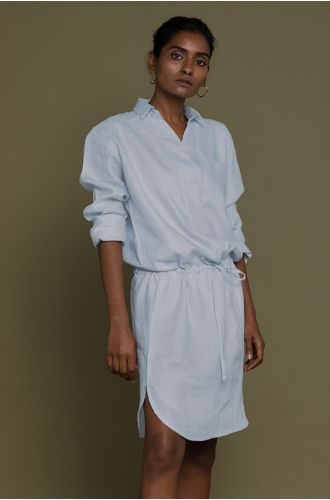 Meet Me By The Cliff Dress In Summer Blue