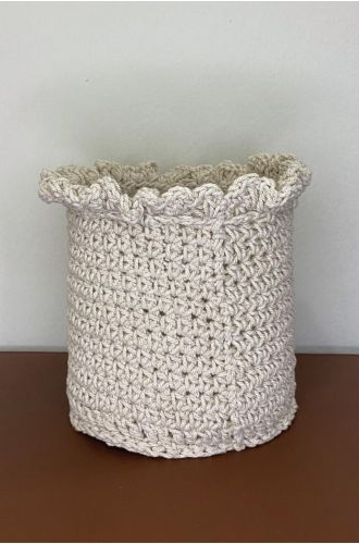 Crochet Candle Holder with Glass Beaker