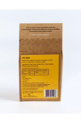 Ragi Crackers with Sesame and Sea Salt 25g- Pack of 3