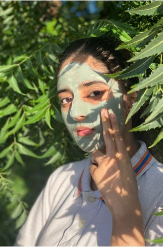 Soothe Mask ( French green clay and spirulina )
