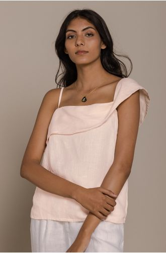 The Wandering Wave Top In Ice Pink