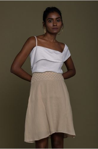 The Wandering Wave Top In Coconut White