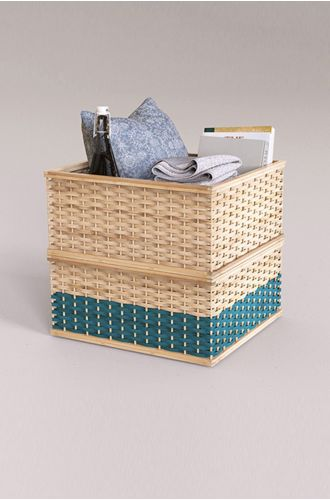 Bamboo Stackable Basket
