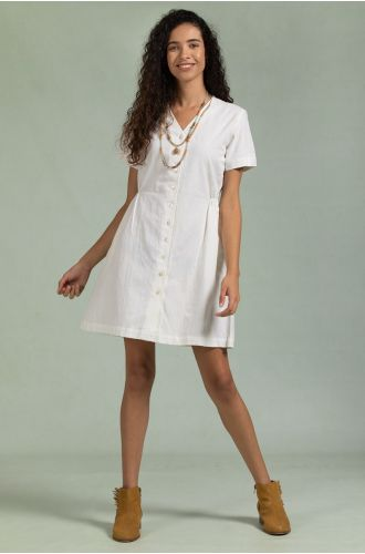Clinched Albaster Dress