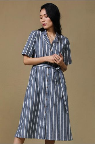 Collared Striped Dress