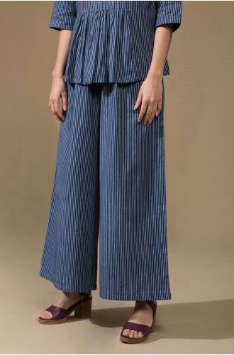 Pinstriped Flared Pants