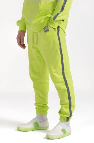 ABG Neon Green Reflective Side Tape LOST LOCALITY Jogger