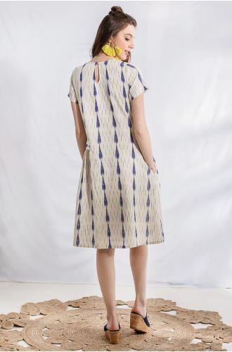 Splattered Ink Ikat Dress