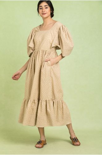 Tuscan Sun Ruffled Dress
