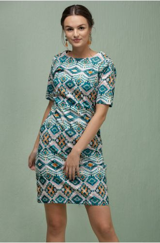 Electric Enigma Printed Dress