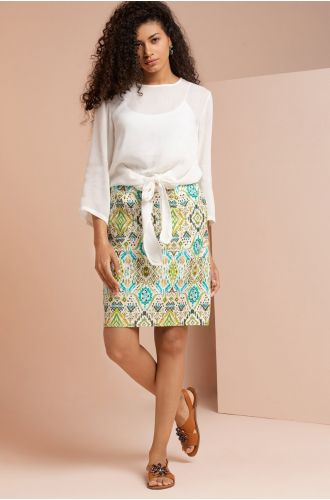 Abstract Statement Skirt