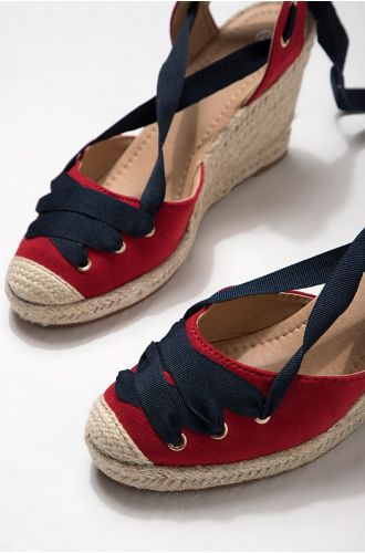 Rosewood Laced Up Espadrilles