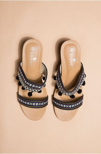 Ikat Strappy Sandals