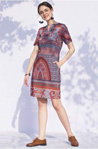 Psychedelic Printed Dress