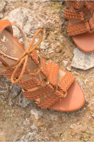 Quilted Tan Heels